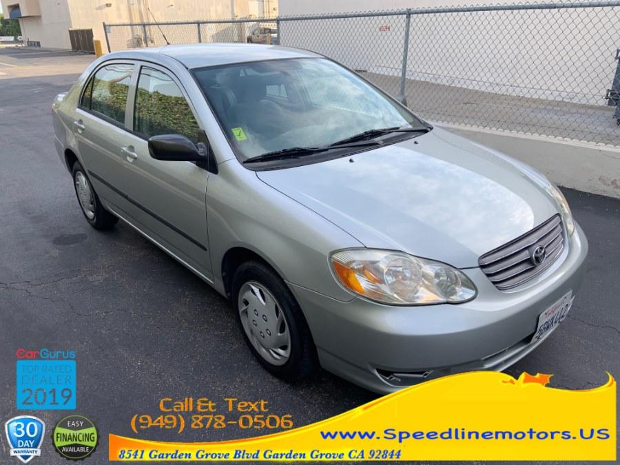 Used Toyota Corolla 4dr Sdn CE Auto (Natl) 2003 | Speedline Motors. Garden Grove, California