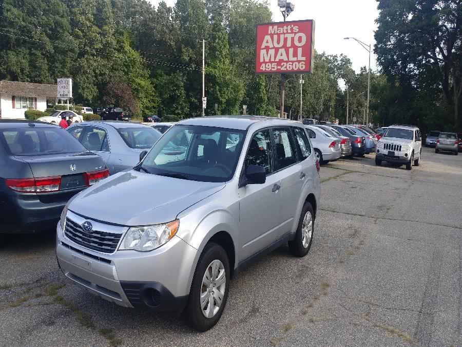 Used Subaru Forester 4dr Auto X 2009   Matts Auto Mall LLC. Chicopee, Massachusetts