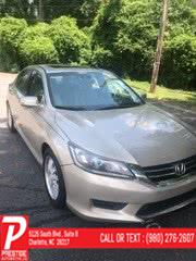Used Honda Accord Sedan 4dr I4 CVT EX-L 2015 | Prestige Automotive Companies. Charlotte, North Carolina