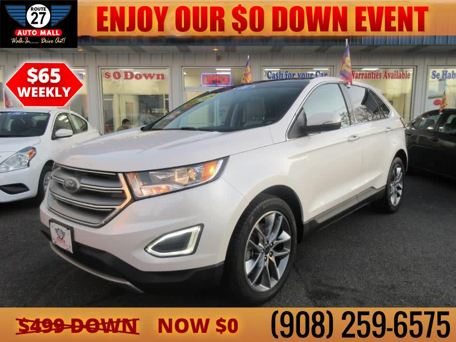 Used 2016 Ford Edge in Linden, New Jersey | Route 27 Auto Mall. Linden, New Jersey