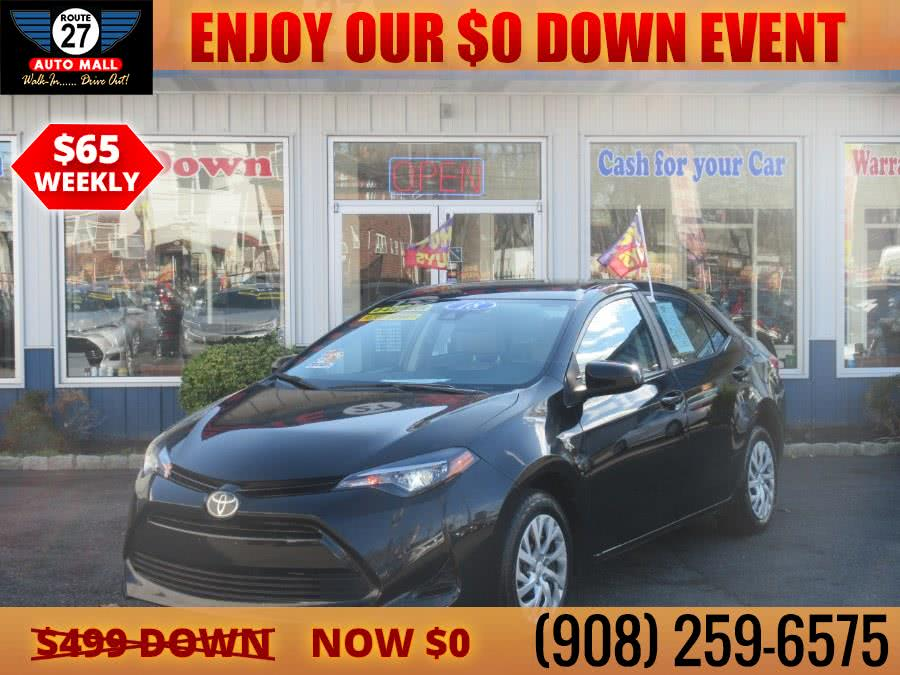Used 2018 Toyota Corolla in Linden, New Jersey   Route 27 Auto Mall. Linden, New Jersey