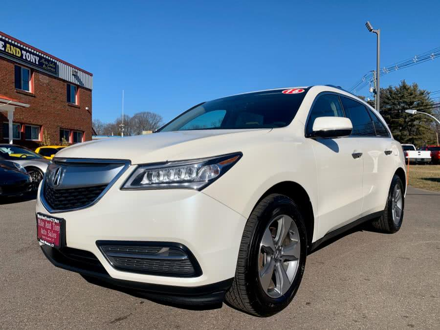 Used Acura MDX SH-AWD 4dr w/AcuraWatch Plus 2016   Mike And Tony Auto Sales, Inc. South Windsor, Connecticut