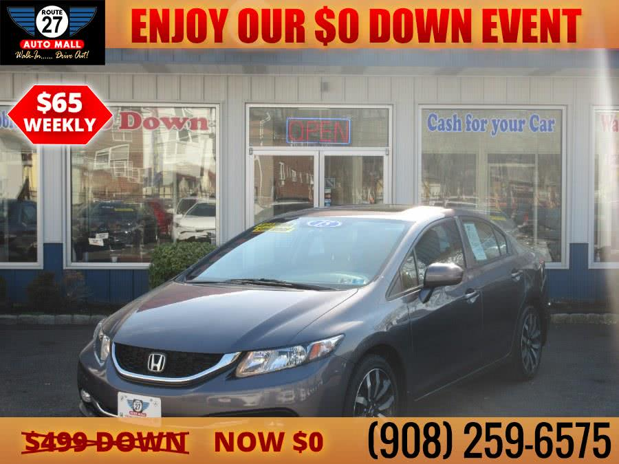 Used 2015 Honda Civic Sedan in Linden, New Jersey | Route 27 Auto Mall. Linden, New Jersey