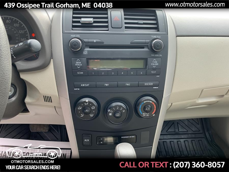 Used Toyota Corolla LE 2010 | Ossipee Trail Motor Sales. Gorham, Maine