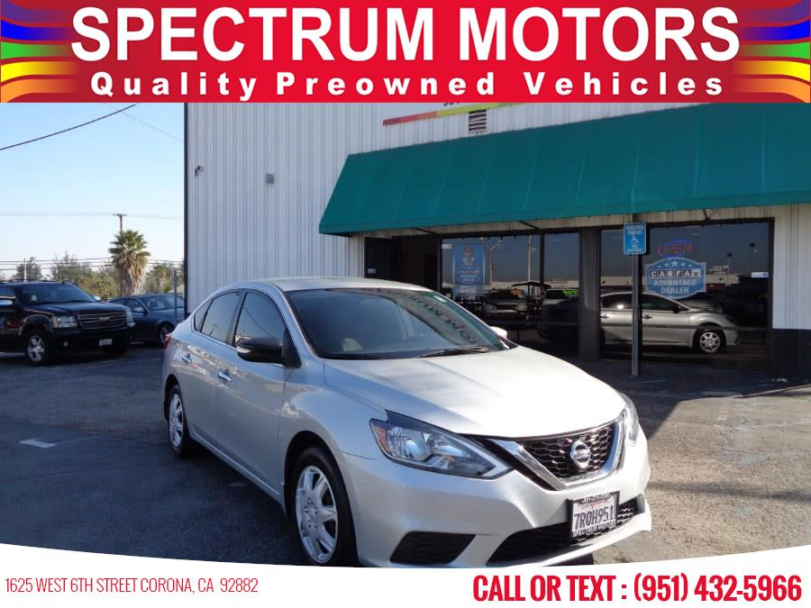 2016 Nissan Sentra 4dr Sdn I4 CVT S, available for sale in Corona, CA
