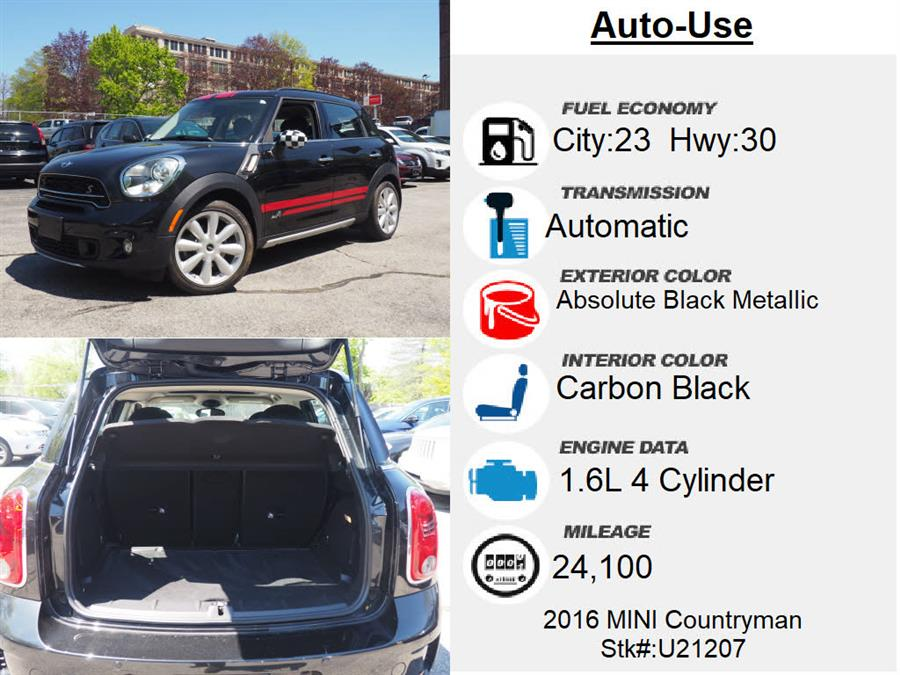 Used Mini Countryman Cooper S ALL4 2016 | Autouse. Andover, Massachusetts
