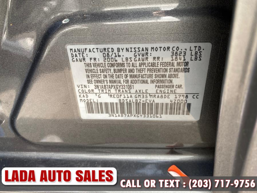 Used Nissan Sentra 4dr Sdn I4 CVT SL 2016 | Lada Auto Sales. Bridgeport, Connecticut