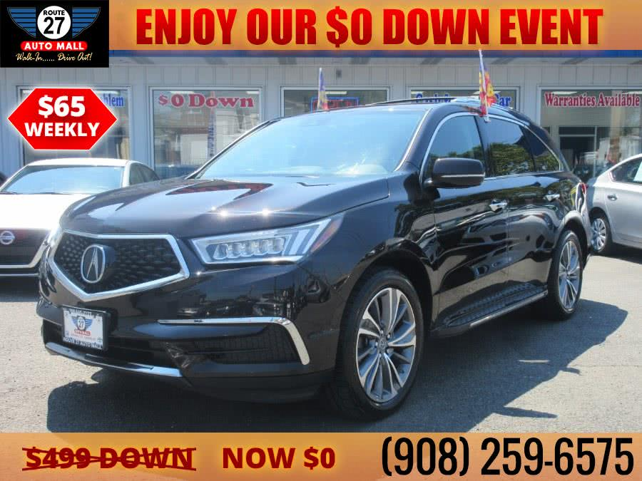 Used 2017 Acura MDX in Linden, New Jersey   Route 27 Auto Mall. Linden, New Jersey