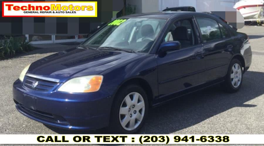Used Honda Civic 4dr Sdn EX Manual w/Side Airbags 2002 | Techno Motors . Danbury , Connecticut