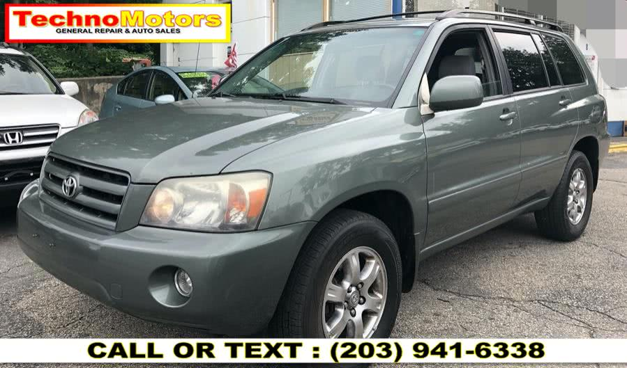 Used 2006 Toyota Highlander in Danbury , Connecticut | Techno Motors . Danbury , Connecticut