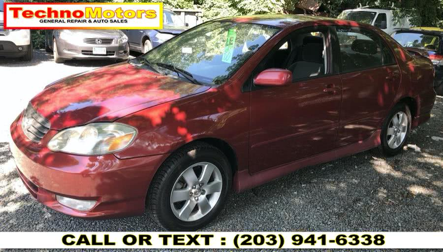Used 2004 Toyota Corolla in Danbury , Connecticut | Techno Motors . Danbury , Connecticut
