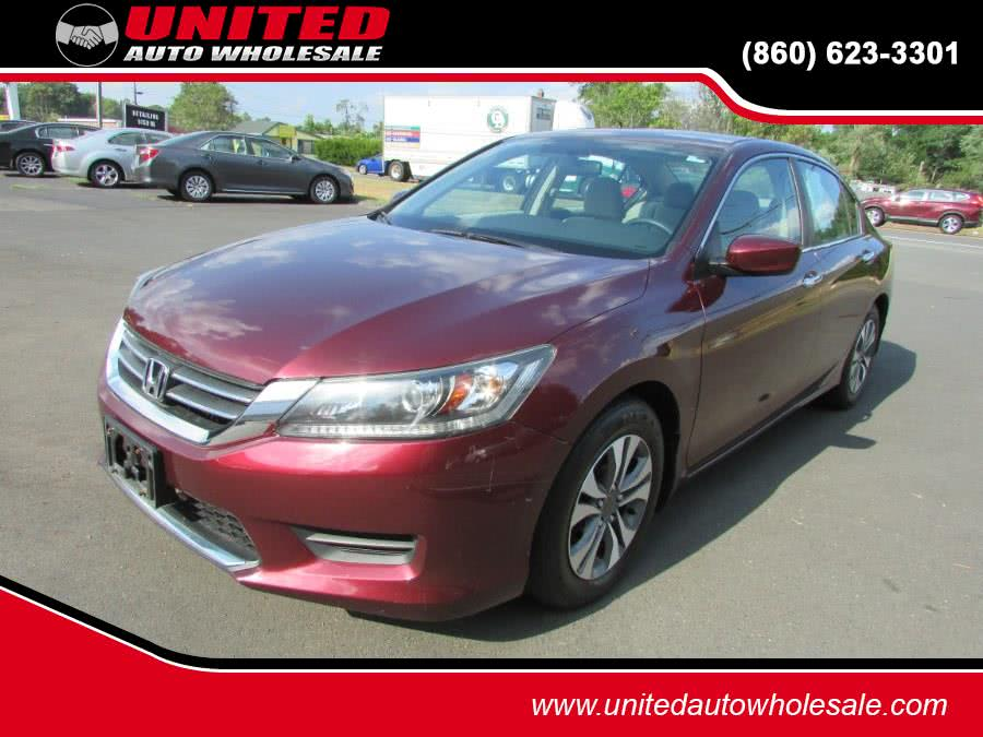2013 Honda Accord Sdn 4dr I4 CVT LX, available for sale in East Windsor, CT