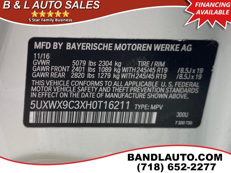 Used BMW X3 xDrive28i 2017 | B & L Auto Sales LLC. Bronx, New York