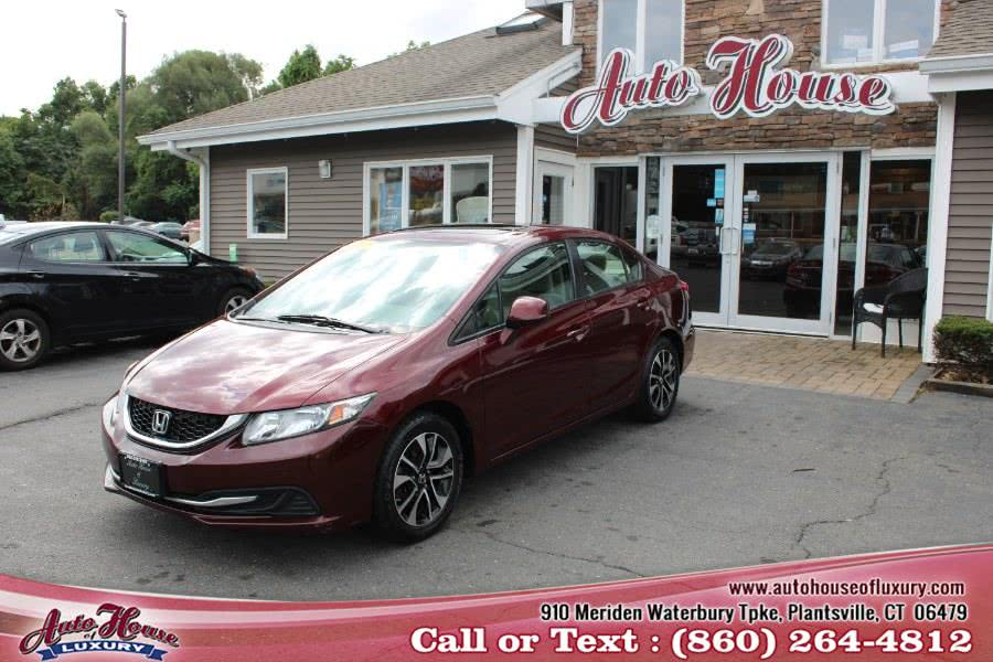Used Honda Civic Sdn 4dr Auto EX 2013 | Auto House of Luxury. Plantsville, Connecticut