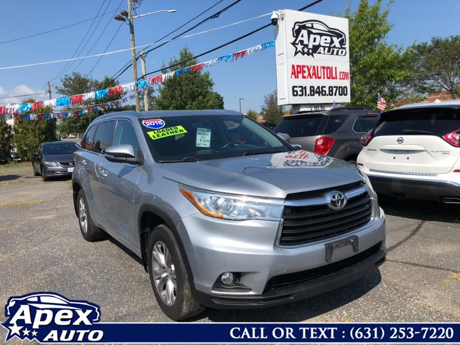 Used Toyota Highlander AWD 4dr V6 XLE (Natl) 2015 | Apex Auto. Selden, New York