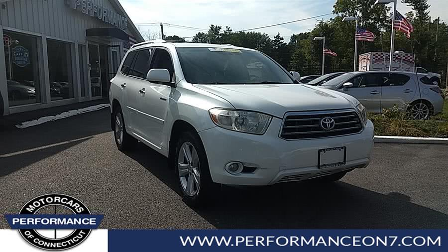 Used Toyota Highlander 4WD 4dr Limited 2008 | Performance Motor Cars. Wilton, Connecticut