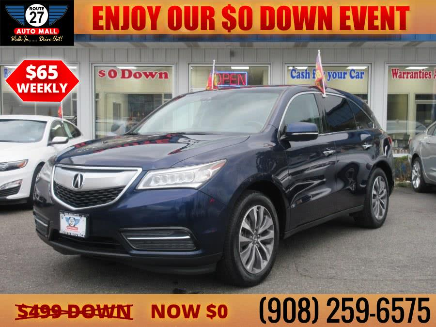 Used 2016 Acura MDX in Linden, New Jersey | Route 27 Auto Mall. Linden, New Jersey