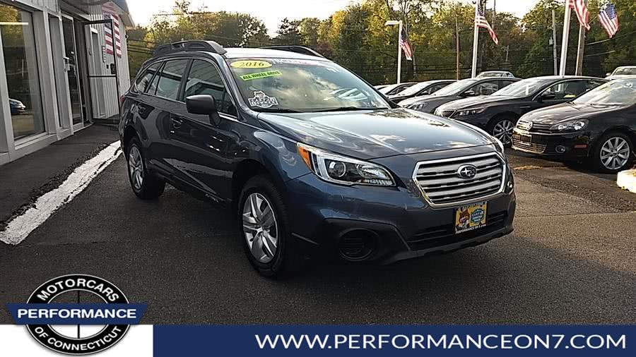 Used Subaru Outback 4dr Wgn 2.5i PZEV 2016 | Performance Motor Cars. Wilton, Connecticut