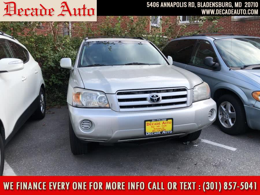 Used 2004 Toyota Highlander in Bladensburg, Maryland | Decade Auto. Bladensburg, Maryland