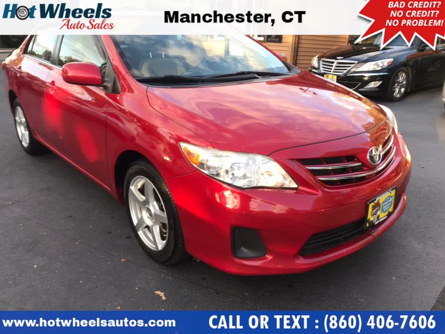 Used Toyota Corolla 4dr Sdn Auto LE (Natl) 2013 | Hot Wheels Auto Sales LLC. Manchester, Connecticut