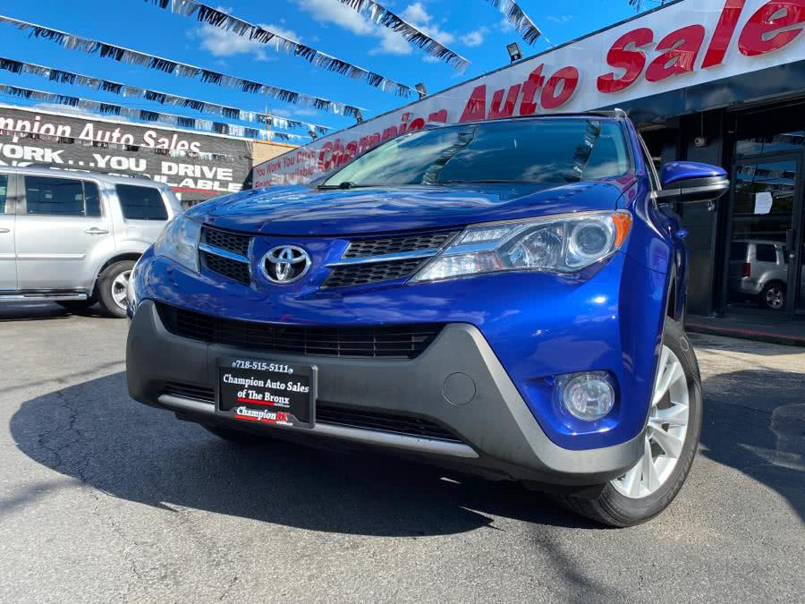 Used Toyota RAV4 AWD 4dr Limited (Natl) 2015 | Champion Auto Sales Of The Bronx. Bronx, New York