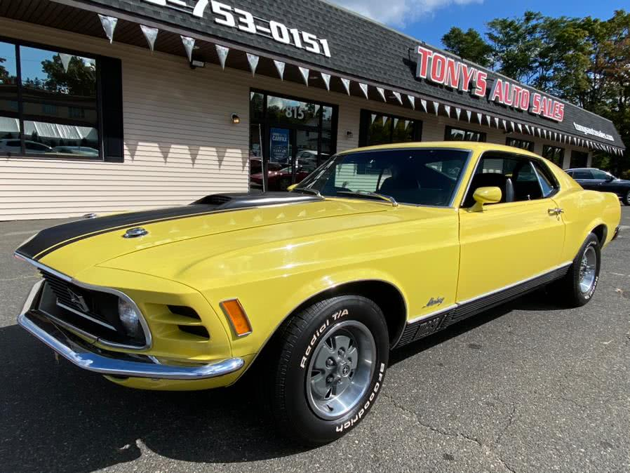 Used Ford Mustang MACH 1 1970 | Tony's Auto Sales. Waterbury, Connecticut