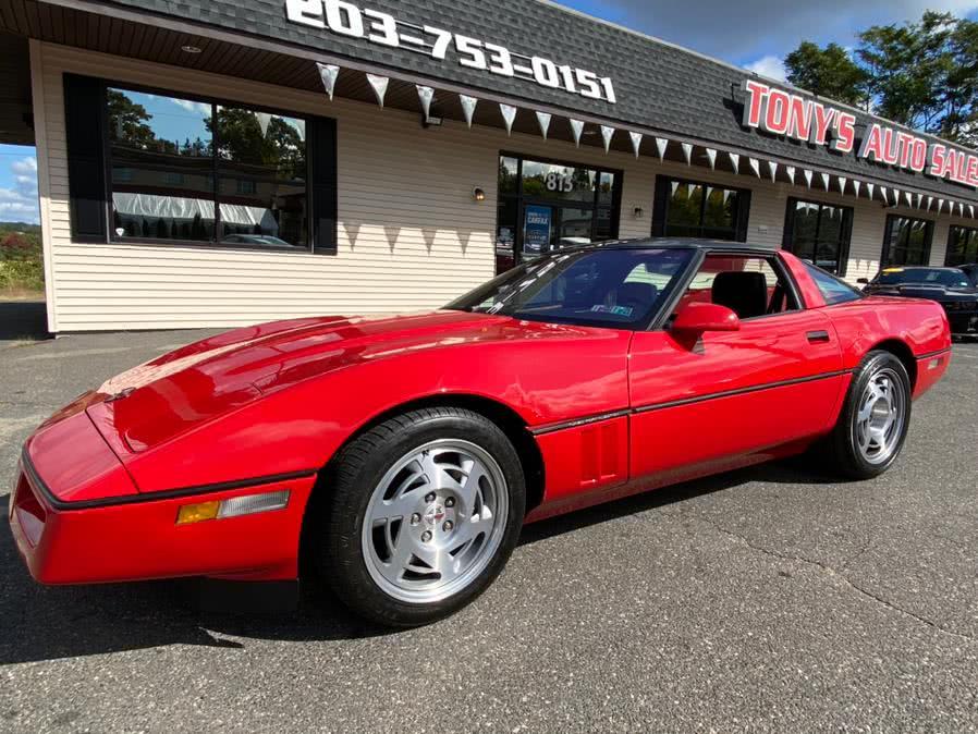 Used Chevrolet Corvette 2dr Coupe Hatchback 1990 | Tony's Auto Sales. Waterbury, Connecticut