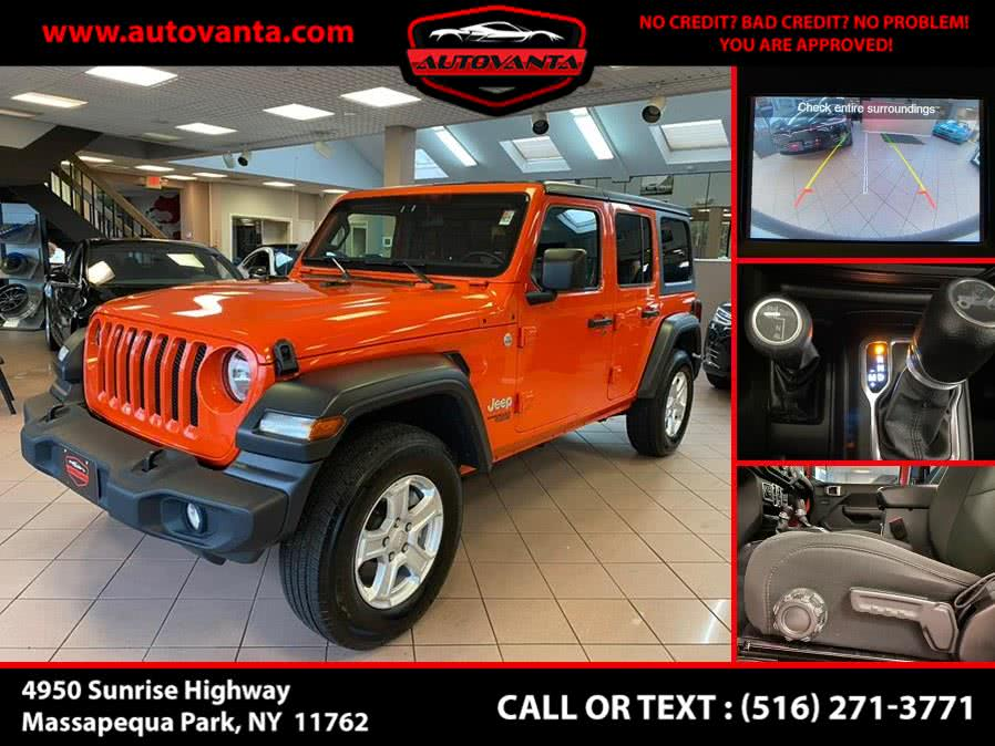 2019 Jeep Wrangler Unlimited Sport S 4x4, available for sale in Massapequa Park, NY