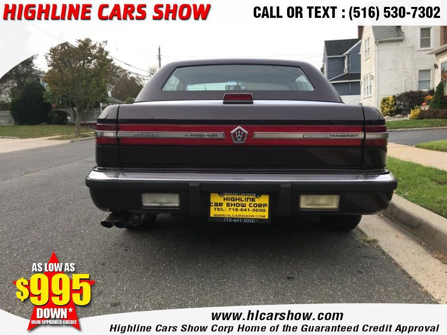 Used Chrysler TC by Maserati TC 1989 | Highline Cars Show Corp. West Hempstead, New York