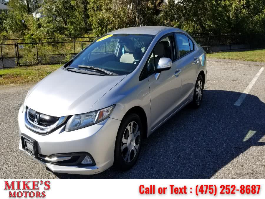 Used Honda Civic Hybrid 4dr Sdn L4 CVT 2013 | Mike's Motors LLC. Stratford, Connecticut
