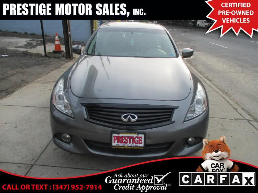 Used 2013 Infiniti G37 Sedan in Brooklyn, New York | Prestige Motor Sales Inc. Brooklyn, New York