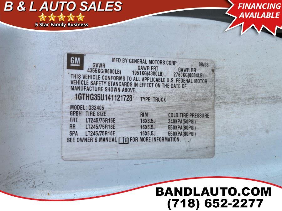 "Used GMC Savana Cargo Van 3500 135"" WB RWD 2004 | B & L Auto Sales LLC. Bronx, New York"