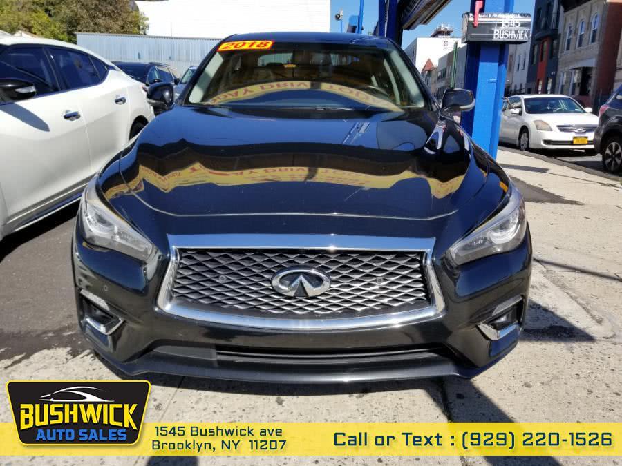 Used INFINITI Q50 3.0t LUXE AWD 2018 | Bushwick Auto Sales LLC. Brooklyn, New York