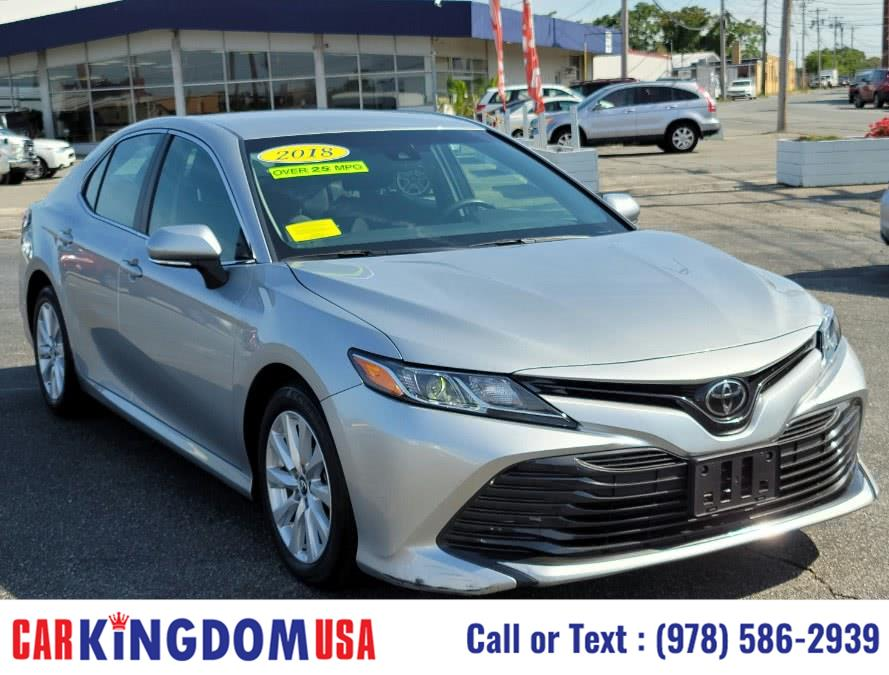 Used Toyota Camry LE 4-Door Sedan w/ The Toyota Entune Connected Technology Package. 2018 | Car Kingdom USA. Lawrence, Massachusetts