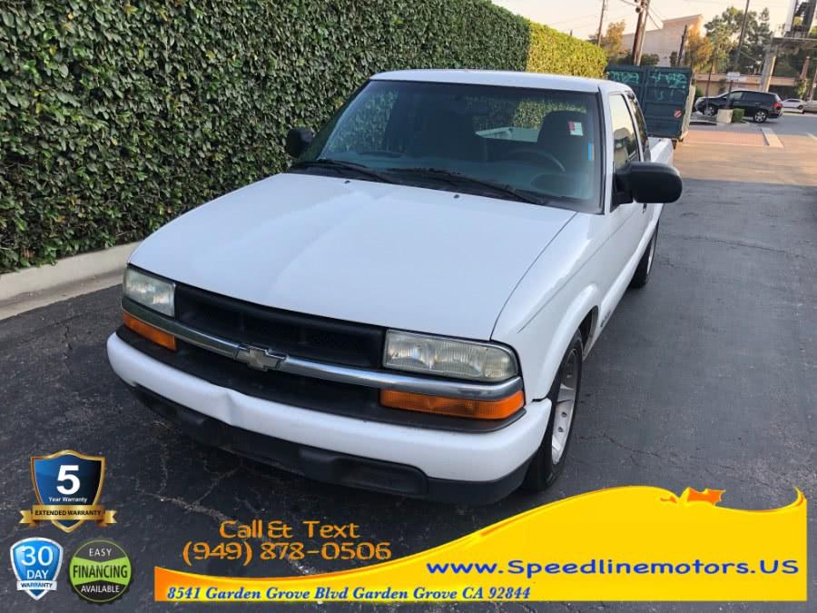 "Used Chevrolet S-10 Ext Cab 123"" WB LS 2002 | Speedline Motors. Garden Grove, California"