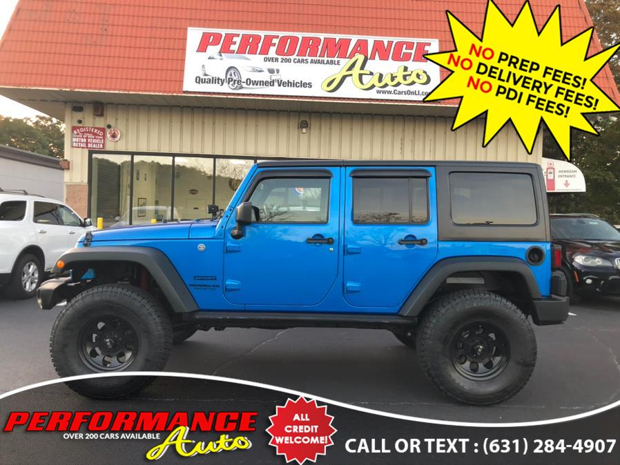 Used Jeep Wrangler Unlimited 4WD 4dr Sport S 2016 | Performance Auto Inc. Bohemia, New York