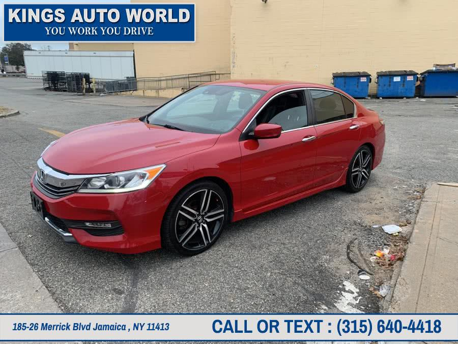 Used Honda Accord Sedan 4dr I4 CVT Sport w/Honda Sensing 2016 | Kings Auto World. Jamaica , New York