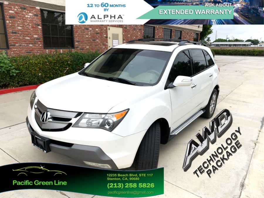 Used Acura MDX 4WD 4dr Tech/Entertainment Pkg 2008   Pacific Green Line. Stanton, California