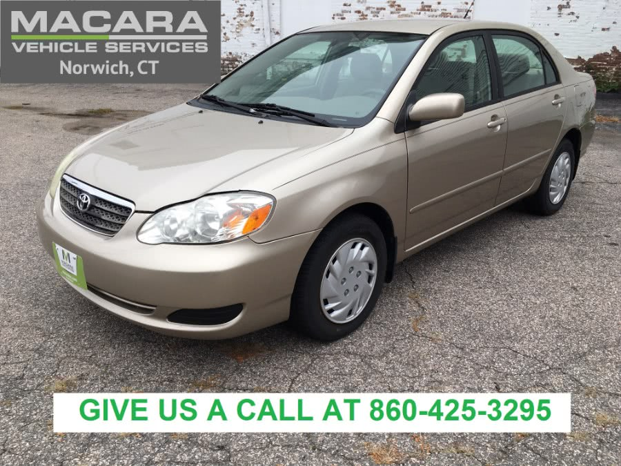 Used Toyota Corolla 4dr Sdn Auto LE (Natl) 2007 | MACARA Vehicle Services, Inc. Norwich, Connecticut