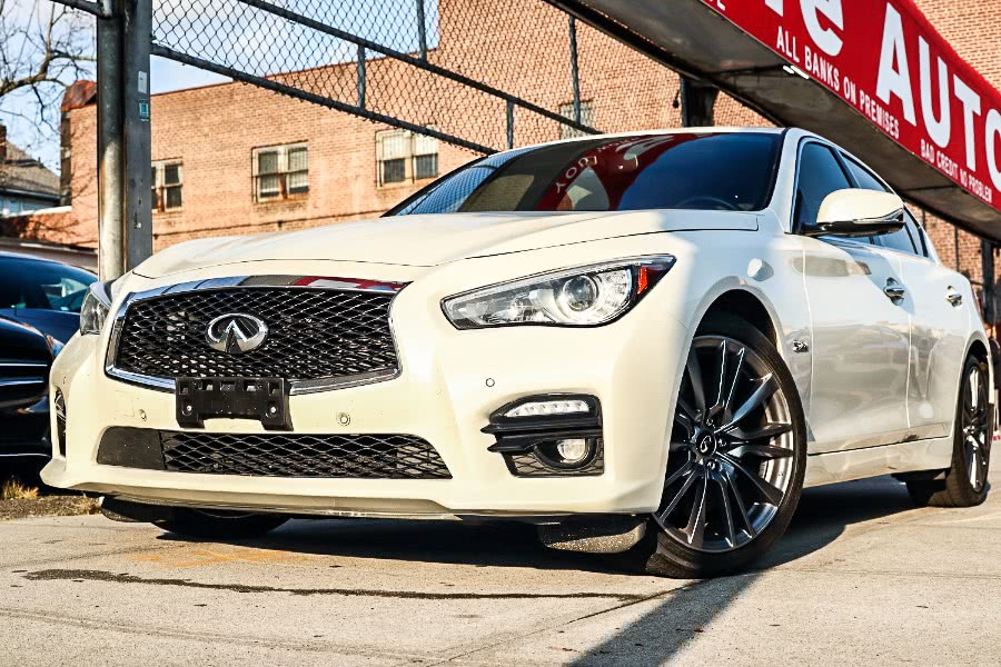 Used INFINITI Q50 Red Sport 400 AWD 2017 | Hillside Auto Mall Inc.. Jamaica, New York