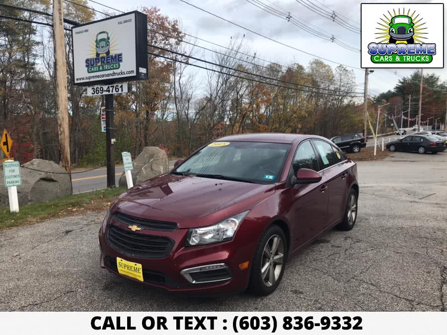 Used 2015 CHEVROLET CRUZE in Bow , New Hampshire | Supreme Cars and Trucks . Bow , New Hampshire