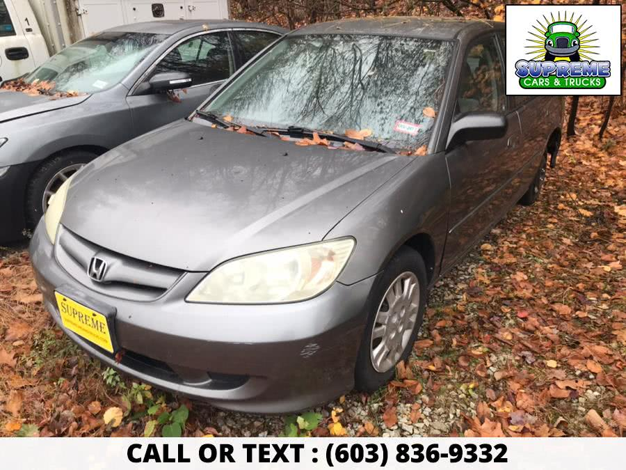 Used 2005 HONDA CIVIC in Bow , New Hampshire | Supreme Cars and Trucks . Bow , New Hampshire