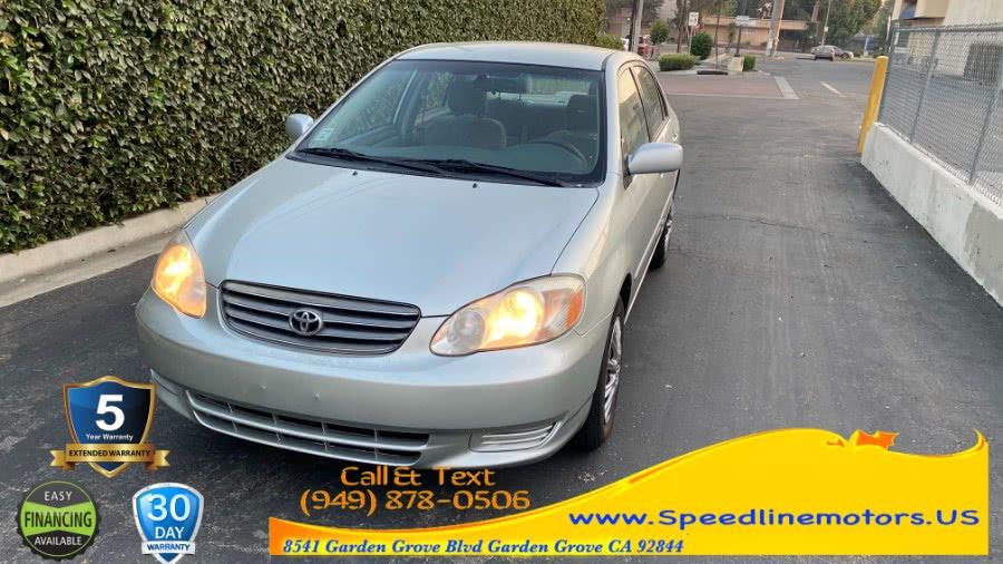 Used Toyota Corolla 4dr Sdn LE Auto (Natl) 2003 | Speedline Motors. Garden Grove, California