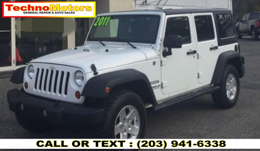 Used Jeep Wrangler Unlimited 4WD 4dr Sport 2011 | Techno Motors . Danbury , Connecticut