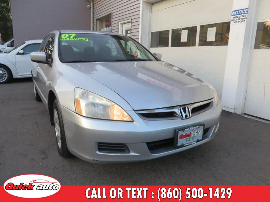 Used 2007 Honda Accord Sdn in Bristol, Connecticut | Quick Auto LLC. Bristol, Connecticut