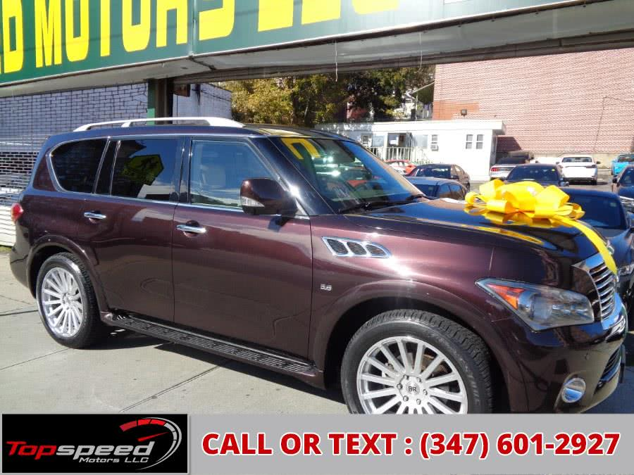 2014 Infiniti QX80 4WD W/Entertainment System, available for sale in Jamaica, NY