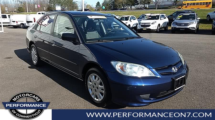 Used Honda Civic 4dr Sdn LX Auto 2004 | Performance Motor Cars. Wilton, Connecticut
