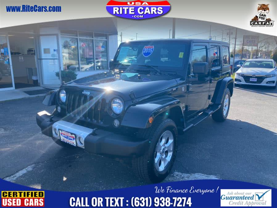 Used Jeep Wrangler Unlimited 4WD 4dr Sahara 2015 | Rite Cars, Inc. Lindenhurst, New York