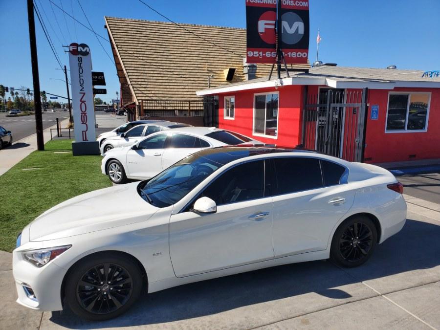 Used INFINITI Q50 3.0t LUXE RWD 2019 | Fusion Motors Inc. Moreno Valley, California