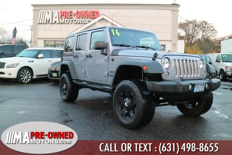 Used Jeep Wrangler Unlimited 4WD 4dr Sport 2016 | M & A Motors. Huntington, New York